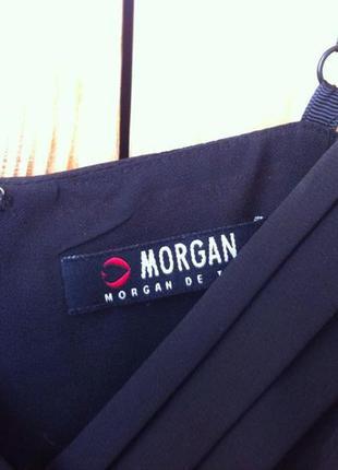 Платье сарафан morgan черное  новое вечернее нарядное шифон2