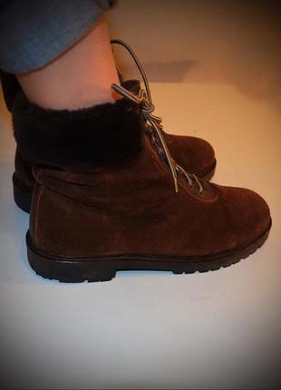Ботинки esprit, зима, замша, мех, 26,51