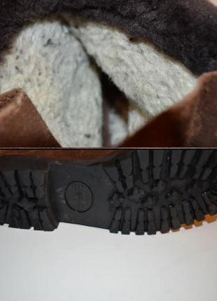 Ботинки esprit, зима, замша, мех, 26,55