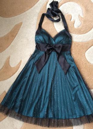 Нарядное, вечернее, выпускное платье как у мэрилин монро. плиссе. размер s.