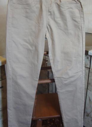 Штаны брюки бежевые pimkie размер s 95% котон, 5% эластан