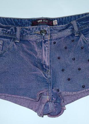 Крутые джинсовые шорты,р-р 10,на наш 44-46,идеальное состояние