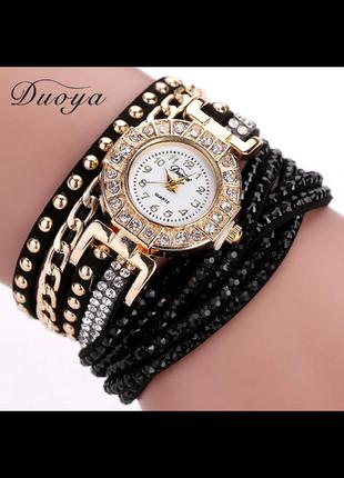 Годинник-браслет, кварцевий. стильна прикраса