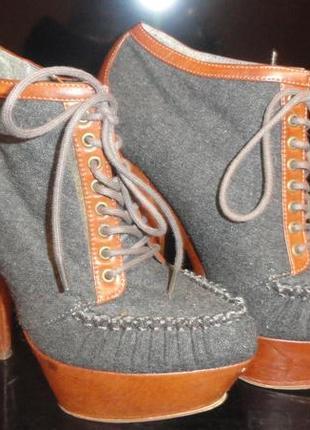 Осенние ботильоны (ботинки) на каблуке asos