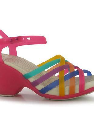 Босоножки crocs huara swedge sandals, w9, w10