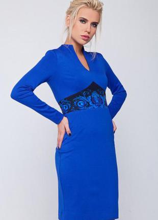 Яркое нарядное синее платье nenka. цена распродажная. 2 размера