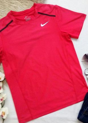 Розовая футболка nike dri-fit для спорта, спортивная футболочка найк, оригинал