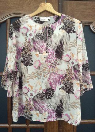 Блуза летняя шифоновая. размер l.