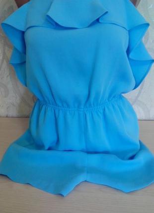 Легкий летний голубой комбинезон ромпер без рукав р 6 topshop