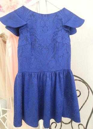 Синее платье крылышки