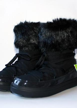 Crocs womens lodgepoint lace boot black оригинал.3