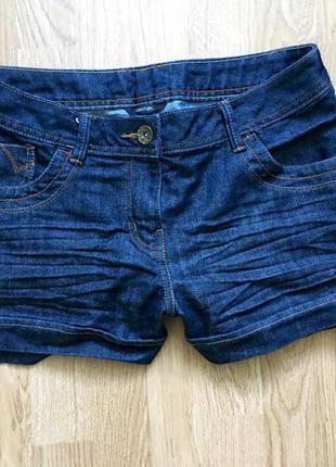 Темно-синие джинсовые шортики