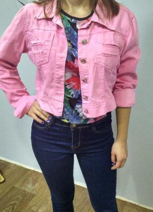 Летняя джинсовая рубашка