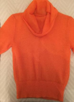 Апельсиновый свитер из итальянской шерсти сделано в украине