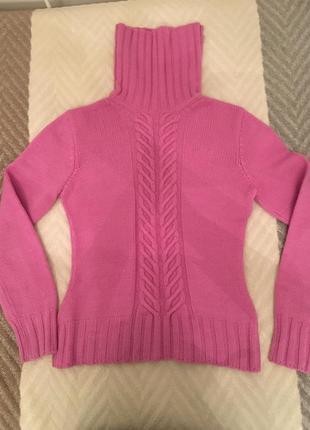 Малиновый свитер из итальянской шерсти сделано в украине