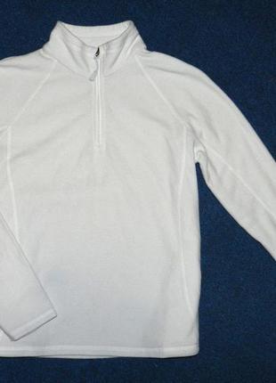 Мягенькая теплая белая флисска, реглан, толстовка от marks&spenser