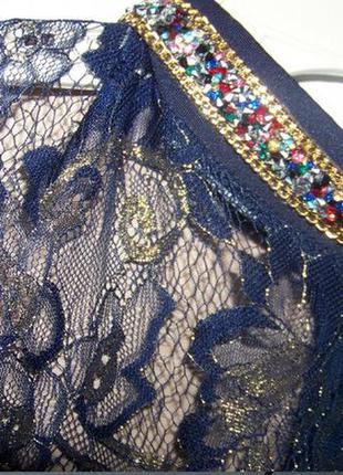 Кружевное платье с камнями праздничное2