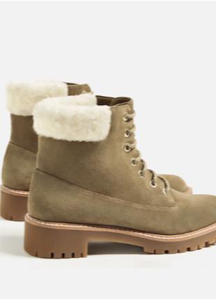 Замшевые ботинки zara