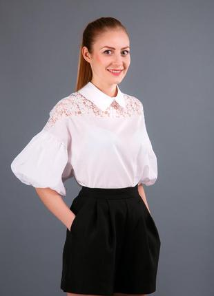 """Романтическая рубашка с рукавом """"колокольчик"""""""