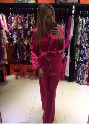 Шелковый костюм agent provocateur розовый