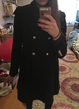 Классическое темно синее пальто