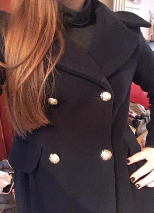 Классическое темно синее пальто2
