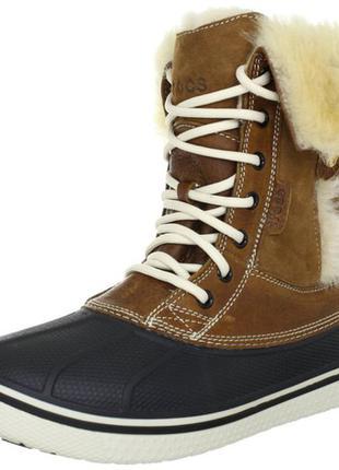 Зимние ботинки crocs р. 36-23, 5см. оригинал