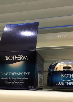 Новый в коробке крем biotherm против старения blue therapy для контура глаз