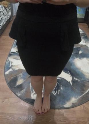 Шикарная черная юбка