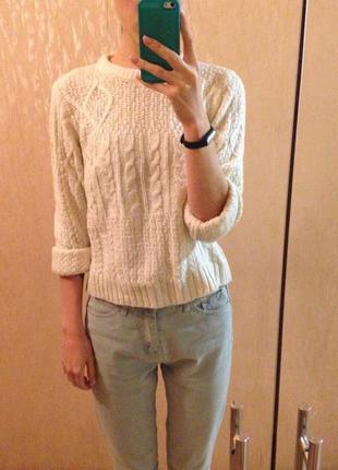 Крутой укороченный свитер oodji