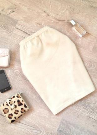 Зимняя светлая юбка мини. скидка10%на2вещи!)
