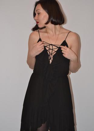 Платье с переплётом на груди5