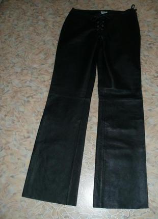 Vip.прекрасные фирменные кожаные мягкие брючки .кожаные брюки.брюки5