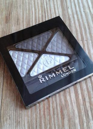 Rimmel тени-квадро glam`eyes 001 smokey noir
