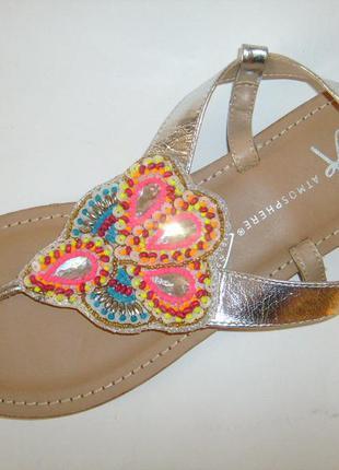 Новые кожаные босоножки сандалии atmosphere 39р