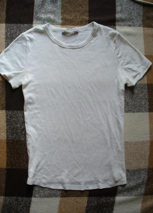 Футболка marks & spencer, белая футболка, спортивная футболка, футболка поло