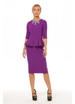 Блузка блуза кофточка с баской и замком на спинке