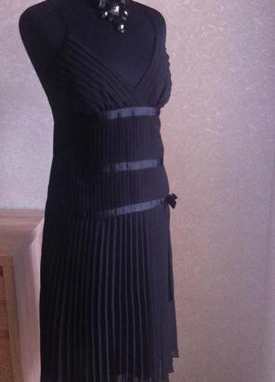 Платье сарафан morgan черное  новое вечернее нарядное шифон1