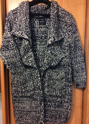 Вязаное пальто оверсайз /бойфренд1