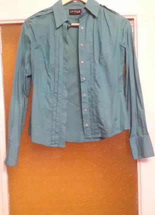 Рубашка бирюзового цвета