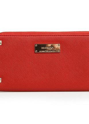 Кошелек женский красный манго mango червоний гаманець