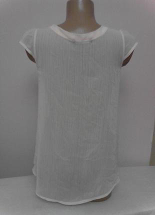 Нежно розовая полупрозрачная блузка с кружевными вставками3