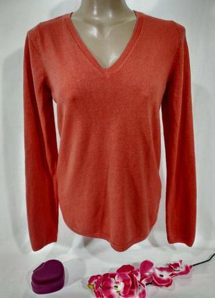 Актуальный джемпер-пуловер  ровного кроя размер м-l2