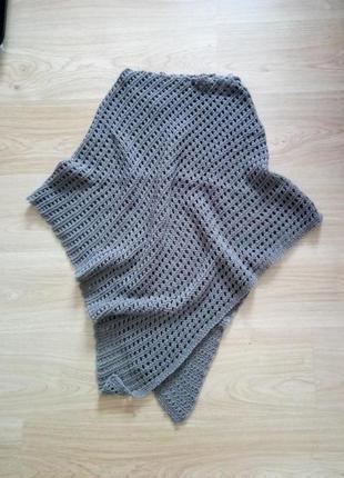 Шерстяное пончо,  накидка поверх одежды, шарф