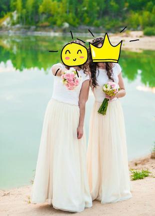 Нежное платье для подружек невесты или на выпускной)
