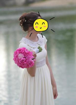 Очень нежное платье в пол