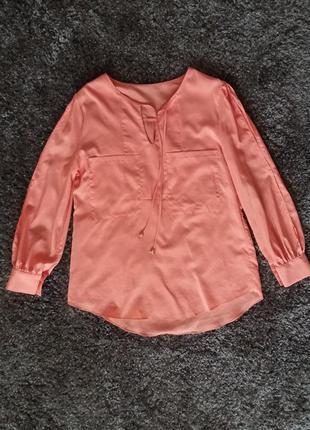 Оранжевая стильная блузка