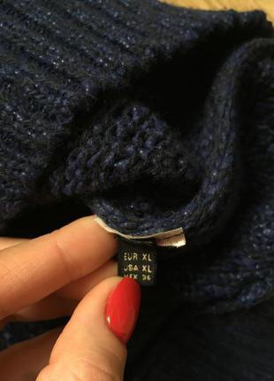 Шикарный темно-синий свитер из итальянской шерсти massimo dutti2