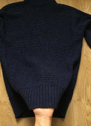 Шикарный темно-синий свитер из итальянской шерсти massimo dutti5