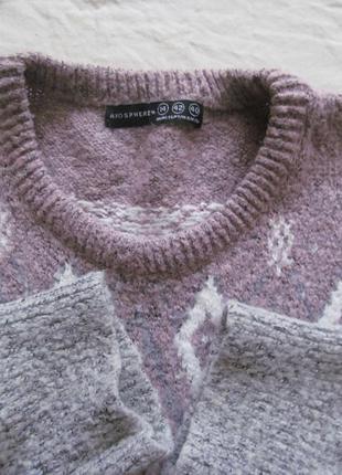 Теплый свитер-пуловер  длинная крфта3